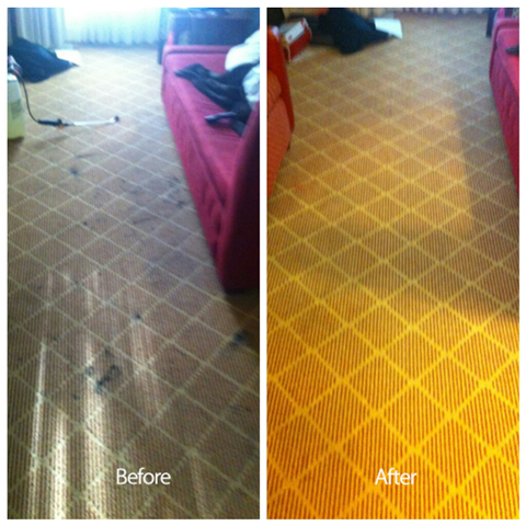 San Carlos Carpet Cleaned before and after