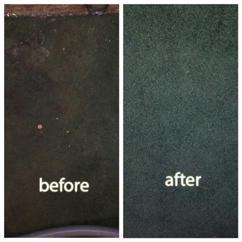 Before and after pictures of carpet cleaning work in San Carlos CA